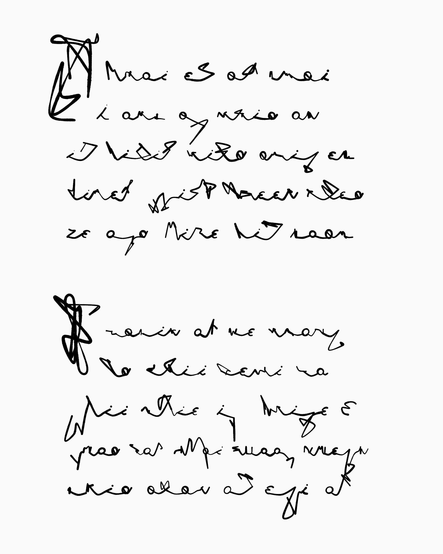 generative manuscript glyphs
