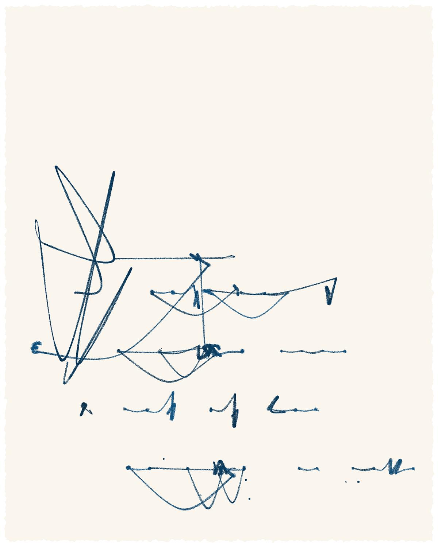 generative asemic poetry tangle 2