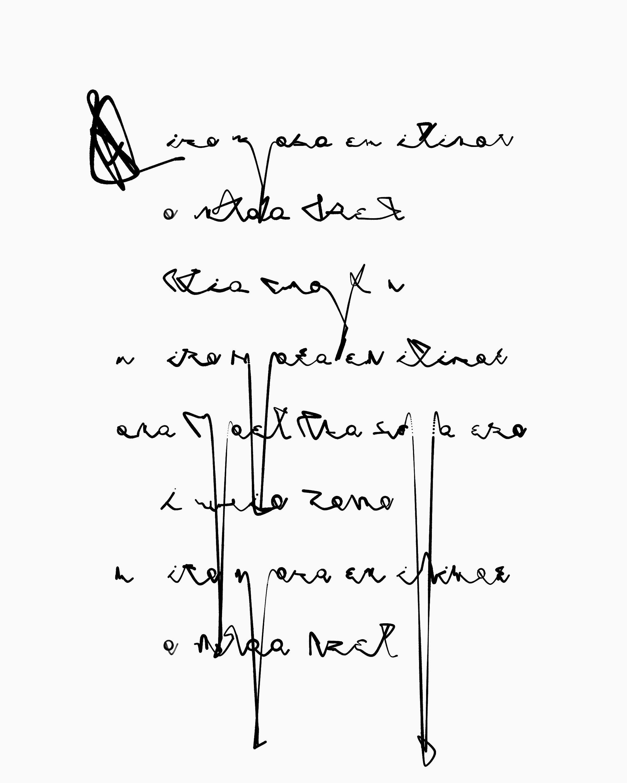 generative asemic poetry Triolet